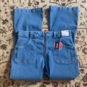 Express Slim Flare High Rise Jeans NWT